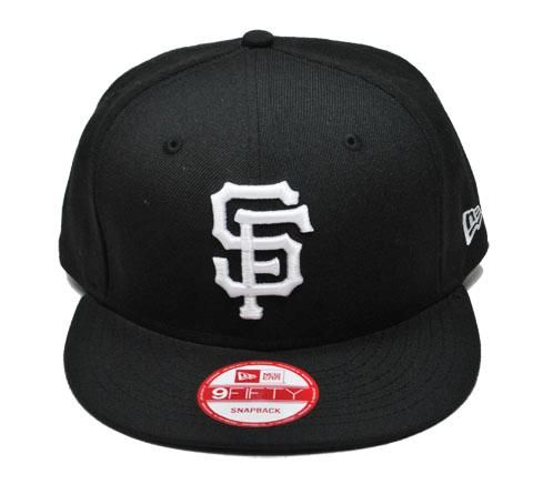 NEW ERA 9fifty MLB Baseball Snapback San Francisco Giants Black Cap