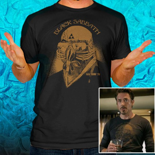 Black Sabbath US Tour 78 Iron Man The Avengers Tony Stark Tee T Shirt