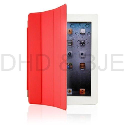 New iPad3 Smart Cover Slim Magnetic PU Leather Case Wake/ Sleep Stand
