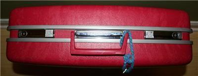 vtg 60s hot barbie pink polkadot Royal Traveler hard shell case