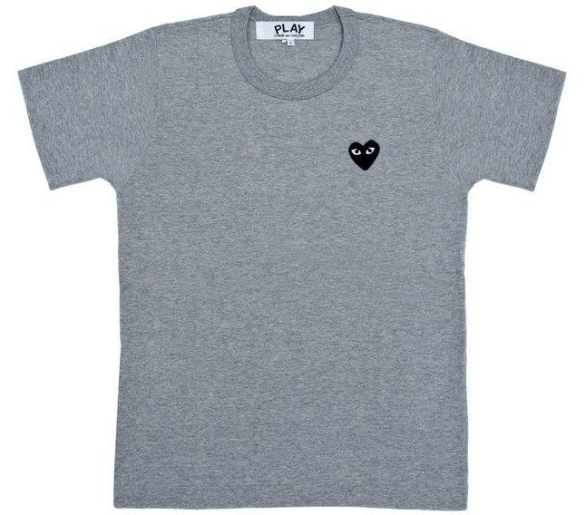 Des Garcons CDG PLAY Classic T shirt Black Heart Red Heart