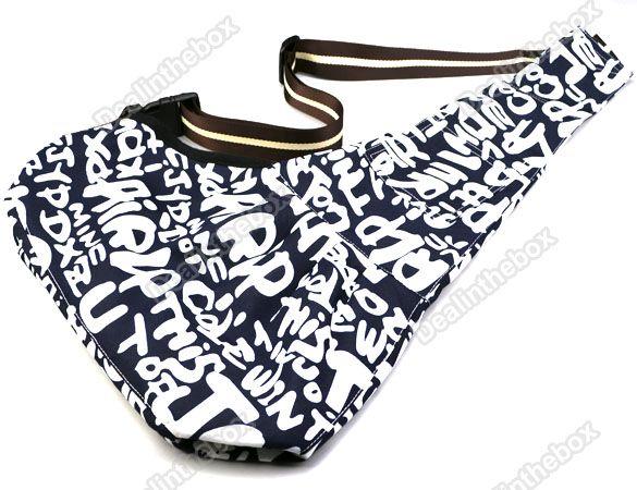 white Strip Oxford Cloth Sling Pet Dog Cat Shoulder Carrier Bag 3 Size