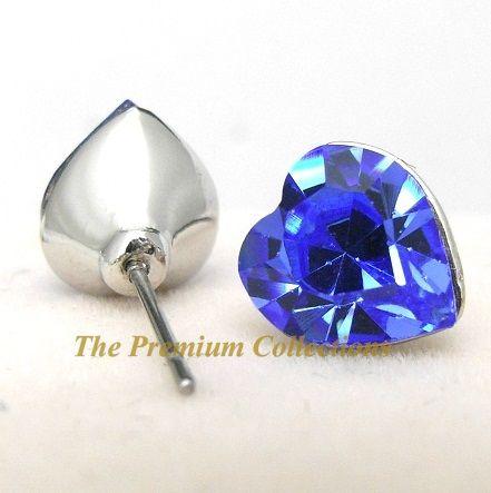 Swarovski Crystal Angel wing Necklace Earrings Set Blue