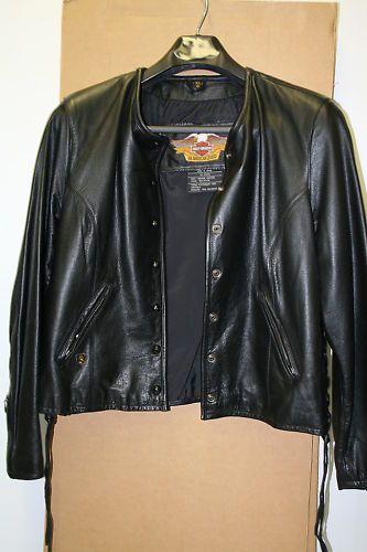 Harley Davidson Black Leather Jacket Size XL