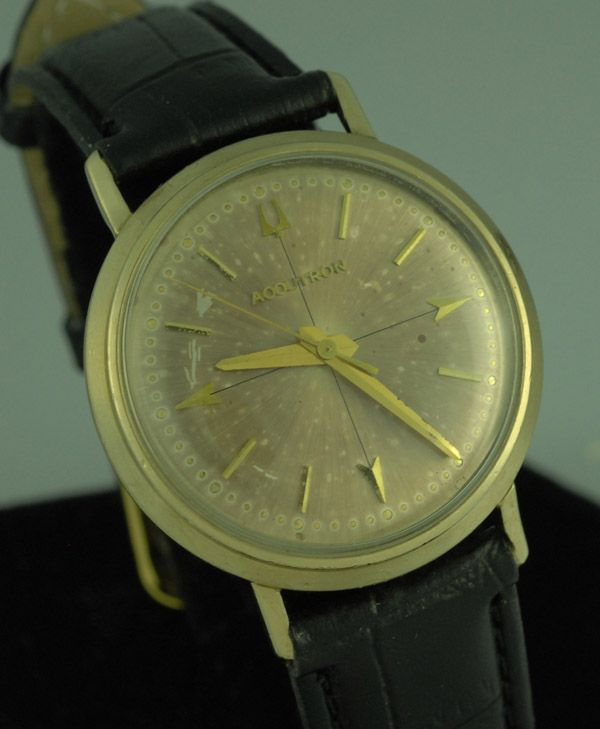 1963 VINTAGE BULOVA ACCUTRON 214 MENS WRIST WATCH w/ ORIGINAL BOX