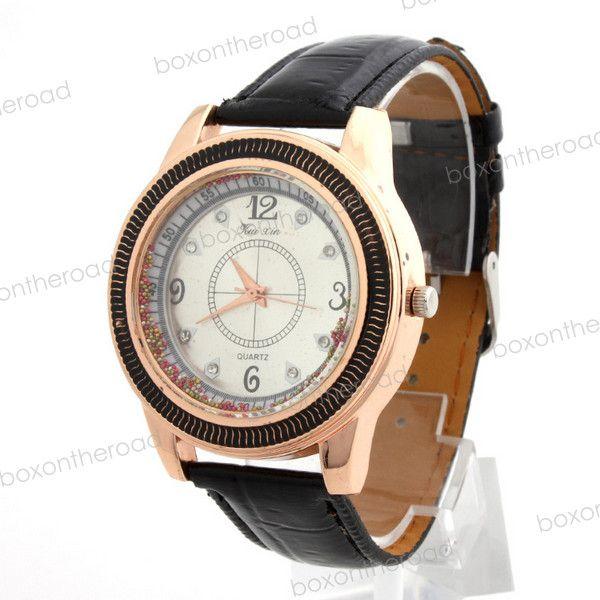 New Fashion PU Band Women Lady Trendy Charm Analog Quartz Wrist Watch