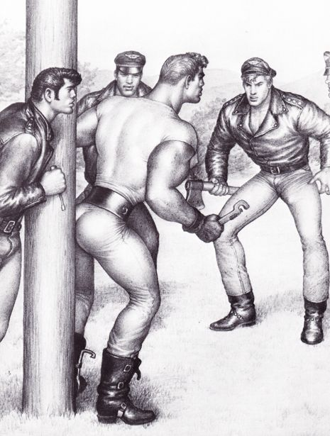 Tom of Finland Homoerotic Art Matted Paper Print 0136 |
